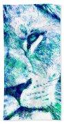 The Blue Lion Beach Towel