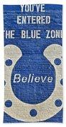 The Blue Zone Beach Towel