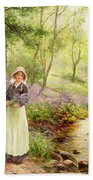 The Bluebell Glade Beach Towel by Ernest Walbourn