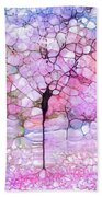 The Blushing Tree In Bloom Beach Towel