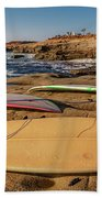 The Boards Beach Towel by Peter Tellone