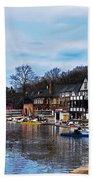 The Boat House Row Beach Towel