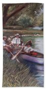 The Boating Men Beach Towel