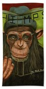 The Book Of Chimps Beach Towel