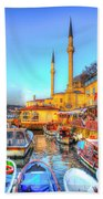 The Bosphorus Istanbul Beach Towel