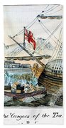 The Boston Tea Party, 1773 Beach Towel