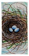 The Botanical Bird Nest Beach Towel
