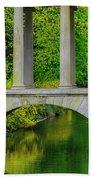 The Bridge Across The Pond Beach Towel