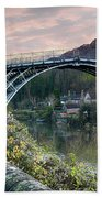 The Bridge Across The Severn Gorge Beach Towel
