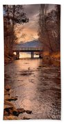 The Bridge By The Lake Beach Towel