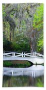 The Bridges In Magnolia Gardens Beach Towel