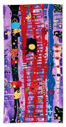 The Bright Red Ladder To Success Beach Towel
