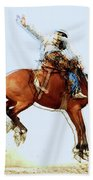 the Bronc Buster Beach Towel