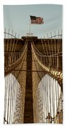 The Brooklyn Bridge Flag Beach Towel