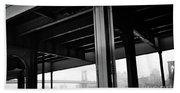 The Brooklyng Bridge And Manhattan Bridge From Fdr Drive Beach Towel