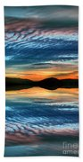 The Brush Strokes Of Evening Beach Towel by Tara Turner