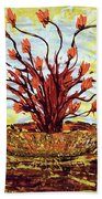 The Burning Bush Beach Towel