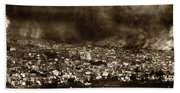 The Burning Of San Francisco Panoramic View Of San Francisco From Twin Peaks April 1906 Beach Towel