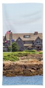 The Bush Family Compound On Walkers Point Beach Towel
