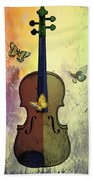 The Butterflies And The Violin Beach Towel