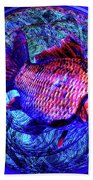 The Butterfly And The Fish Beach Towel by Joseph Mosley