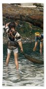 The Calling Of Saint Peter And Saint Andrew Beach Towel by Tissot