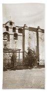 The Campanario, Or Bell Tower Of San Gabriel Mission Circa 1880 Beach Towel
