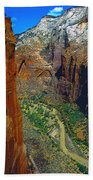 The Canyon Of Zion Beach Towel