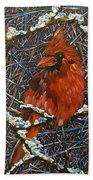 The Cardinal  Beach Towel
