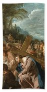 The Carrying Of The Cross Beach Towel