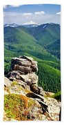 The Cascade Mountains Beach Towel