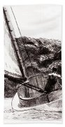 The Cat Boat, Edward Hopper Beach Towel