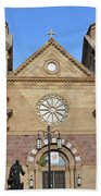 The Cathedral Basilica Of St. Francis Of Assisi, Santa Fe, New M Beach Towel