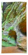 The Caves At Old Man's Gorge Trail Hocking Hills Ohio Beach Towel