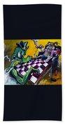 The Checker Game Beach Sheet