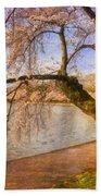 The Cherry Blossom Festival Beach Towel by Lois Bryan