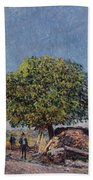 The Chestnut Tree At Saint-mammes Beach Towel