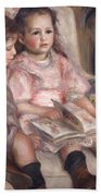 The Children Of Martial Caillebotte Beach Towel by Pierre Auguste Renoir