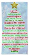 The Christmas Prayer Beach Towel