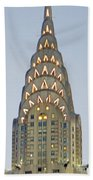The Chrysler At Dusk Beach Towel