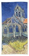 The Church At Auvers Sur Oise Beach Towel by Vincent Van Gogh