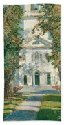 The Church At Gloucester, 1918 Beach Towel