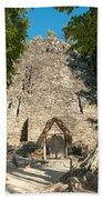 The Church At Grupo Coba At The Coba Ruins  Beach Towel