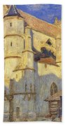 The Church At Moret Beach Towel by Alfred Sisley