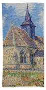 The Church At Porte-joie On The Eure Beach Towel