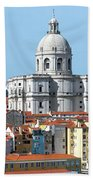 The Church Of Santa Engracia And Rooftops -- Lisbon Beach Towel
