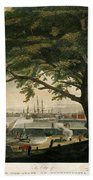 The City Of Philadelphia In The State Of Pennsylvania. North America Beach Towel