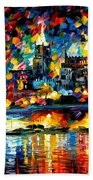 The City Of Valetta - Malta Beach Towel