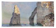 The Cliffs At Etretat Beach Towel