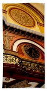 The Clock In The Union Station Nashville Beach Towel
